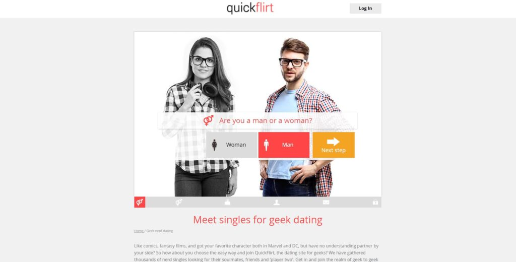 QuickFlirt.com screen