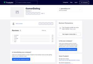 GamerDating Trustpilot