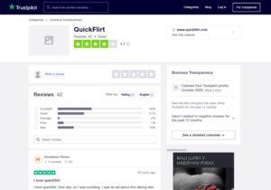 QuickFlirt.com trustpilot