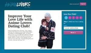 Anime Lovers Dating main page