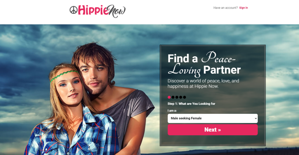 Hippie Now main page