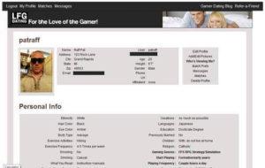 LFGdating profile