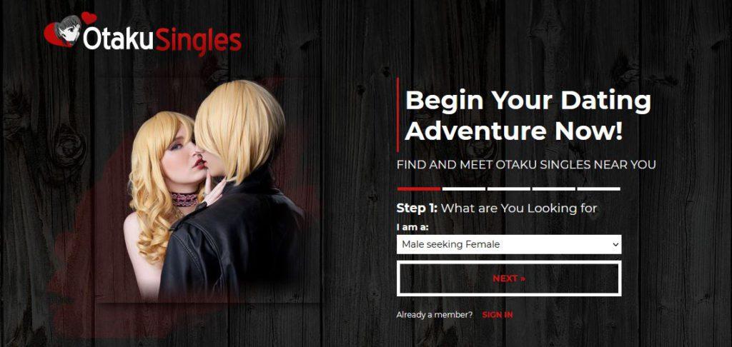 Otaku Singles main page